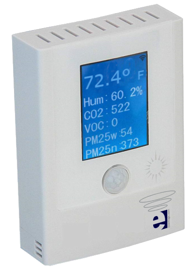 EXL02038 Air Quality Station Temp %RH CO2 VOC PM2.5 PM10 Light Sound